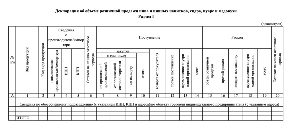 1 раздел декларации формы 8